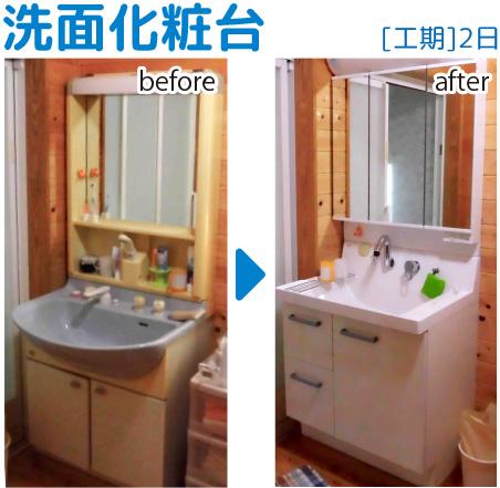 洗面台リフォーム01